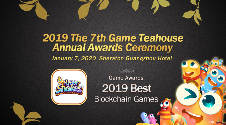 HyperSnakes awarded as one of the Best Blockchain Games in the Game Teahouse Awards Ceremony